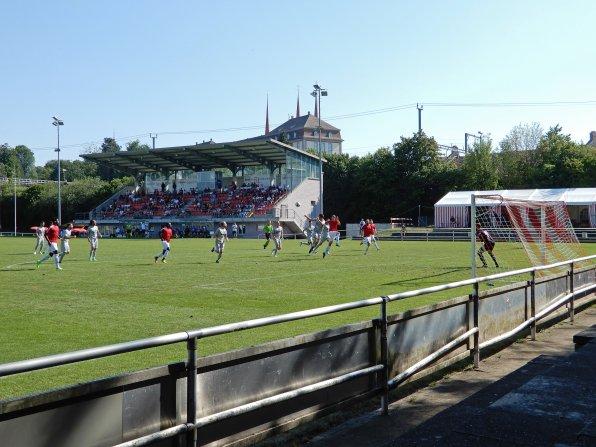 Blick auf das Stadion beim Freiämter Cup