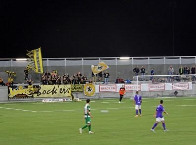 Mitgereiste Fans aus Schaffhausen in Aktion
