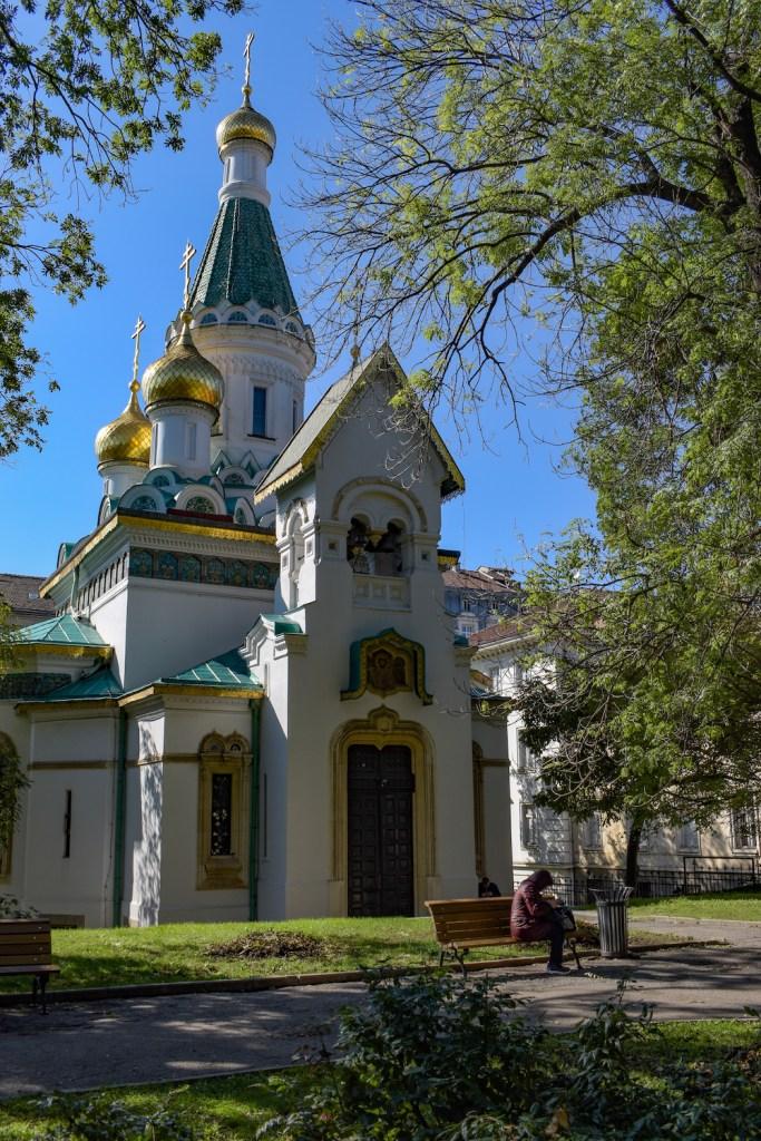 Orthodoxe Kirche in einem Park in Sofia