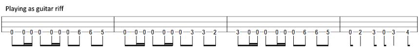 metallica battery bass tab