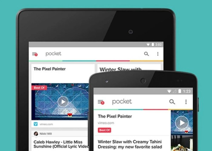 Pocket con Material Design
