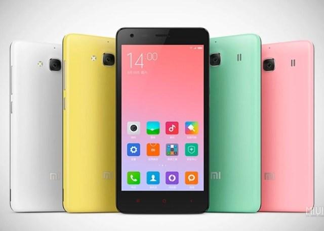 Primer plano de múltiples Xiaomi Redmi 2A