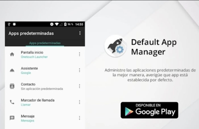 Default App Manager para Android