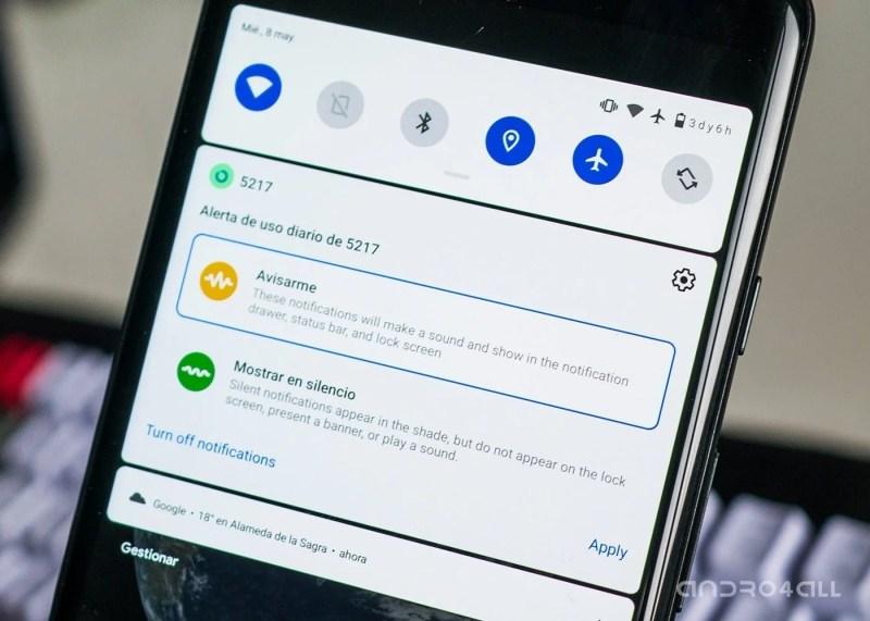 Posponer notificaciones en Android Q