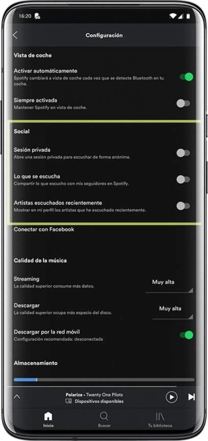 Así puedes evitar que el resto de usuarios sepan lo que escuchas en Spotify: todas las formas posibles