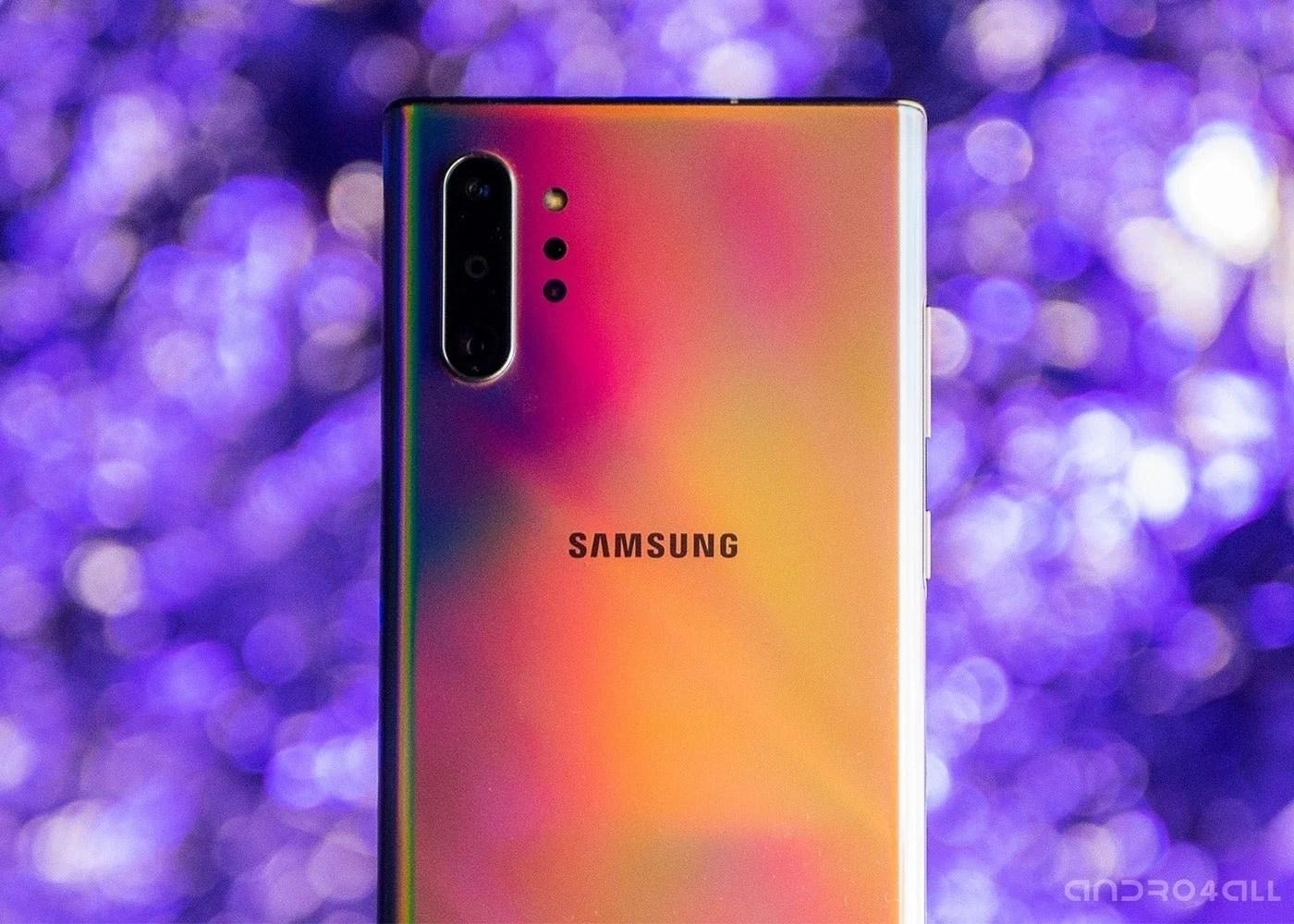 Samsung Galaxy Note10, parte trasera en colorines