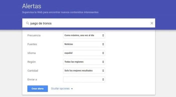 Alertas de noticias de Google 3