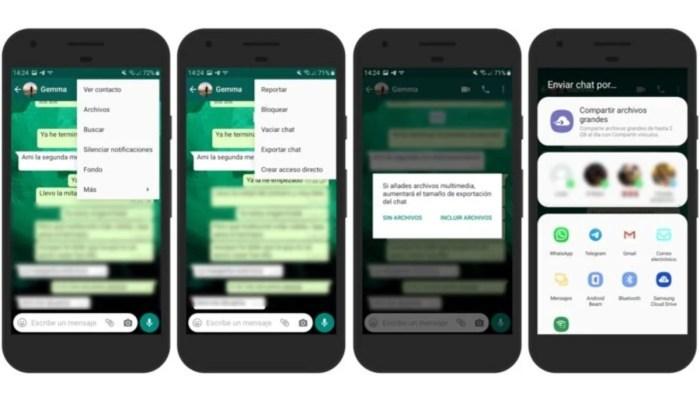 Guardar conversación de WhatsApp