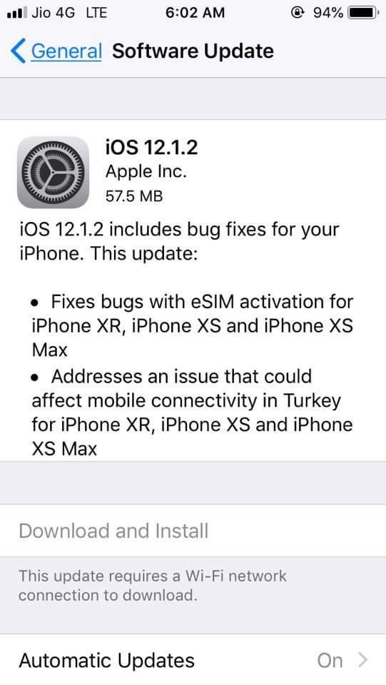 Apple fooling customers sending fake updates! (iOS 12 1 2