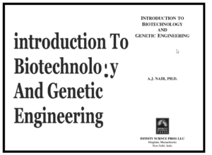 introduction To Biotechnology And Genetic Engineering