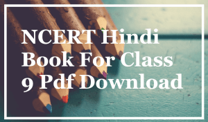 NCERT Hindi Book For Class 9