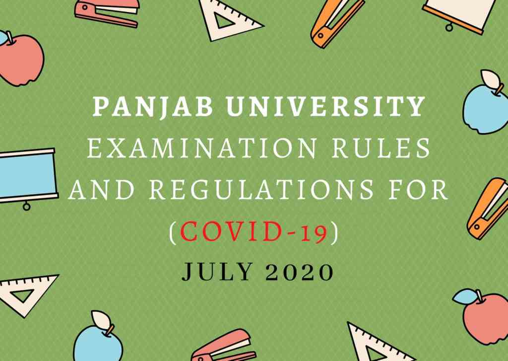 Panjab University Examination Rules And Regulations For (COVID-19) July 2020 (1)