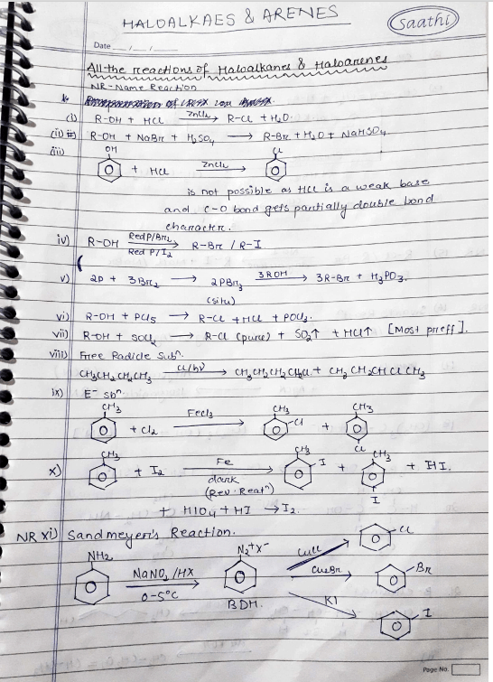Best Haloalkanes And Haloarenes Notes For NEET Pdf By Soyeb Aftab 1