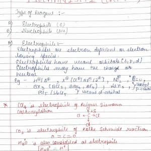 Organic Reaction Mechanism Pdf part-1