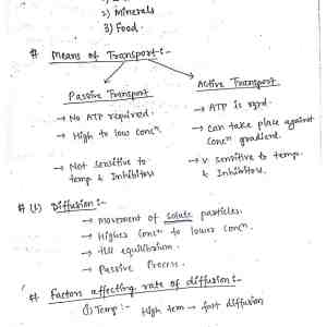 Transport In Plants Notes Pdf