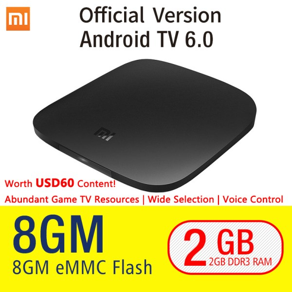 Xiaomi MI BOX Smart Set top TV-Box 4K-Quad-Core-WIFI