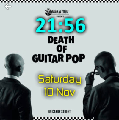 Death Of Guitar Pop Smart Watch Face