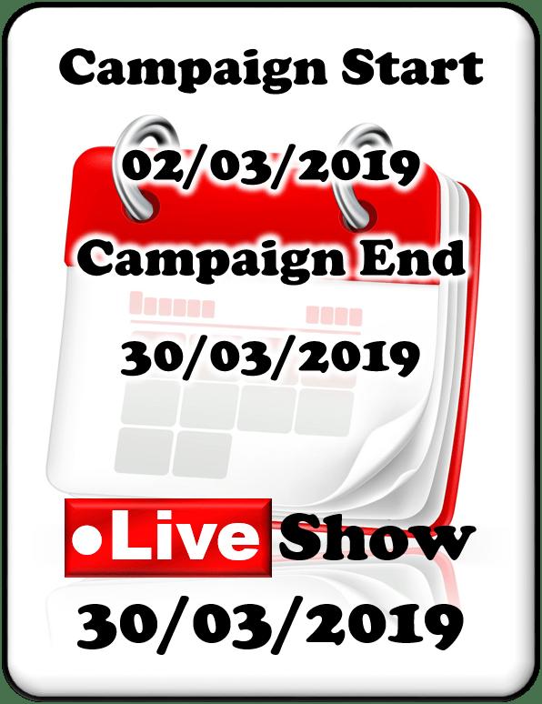 CAshman_eq FREE to enter Tournament Calendar Onetec March 2019