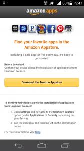 Installation Amazon AppStore
