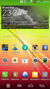 LG G2 - Accueil
