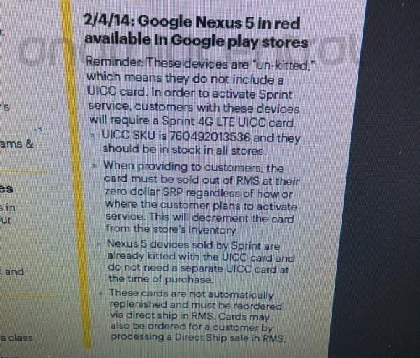 Nexus5 red sprint