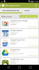 ANDROID L : mise à jour des applications