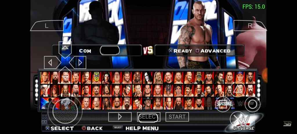 WWE 2k18 PPSSPP Android character