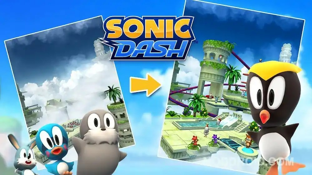 Sonic Dash mod apk unlocked all characters