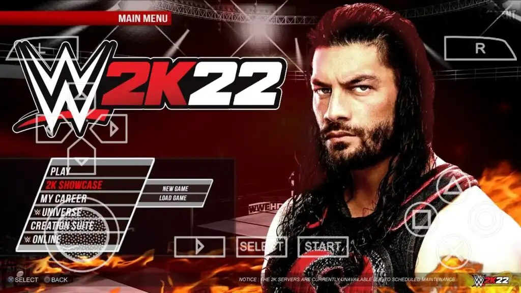 WWE 2K22 PPSSPP ISO Zip File Download For Android