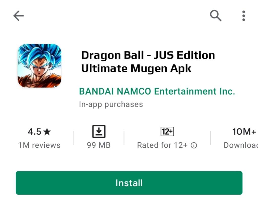 Dragon Ball JUS Edition Ultimate Mugen Apk Download