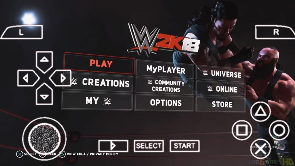 WWE 2K18 PPSSPP ISO Download For Android Mobile