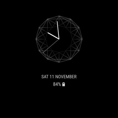 Samsung Galaxy S8 Always on Display Clock 6