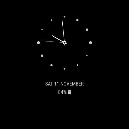 Samsung Galaxy S8 Always on Display Clock 7