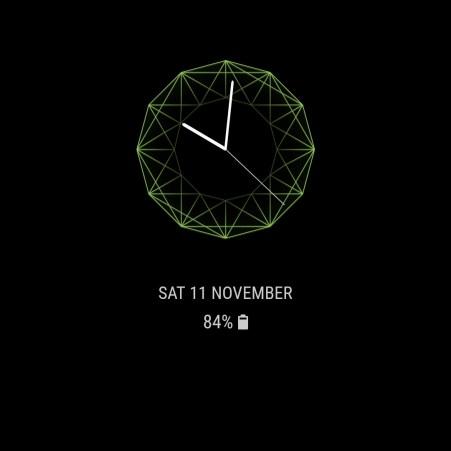 Samsung Galaxy S8 Always on Display Clock 13