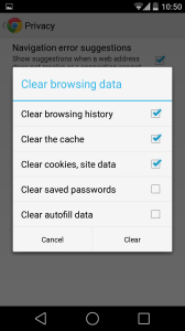 Speed up Android device -Delete Browsing cache 3