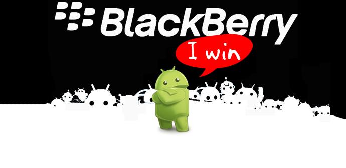 BlackBerry diez vs Android