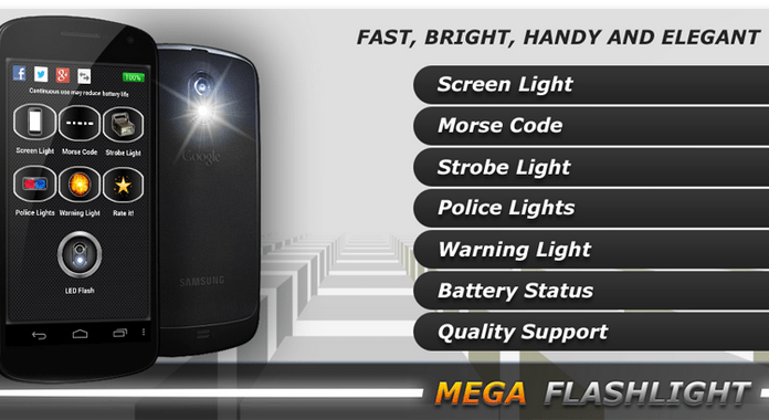 MEGA Flashlight Best Free Flashlight Apps for Android No extra Permission