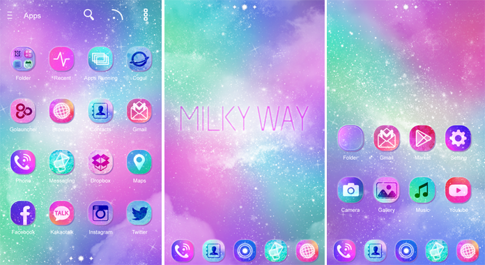 Milky Way Best Go Launcher Themes Free Download