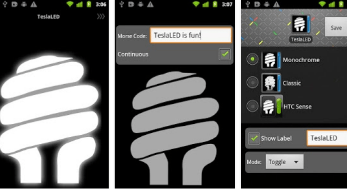 TeslaLED Flashlight Best Free Flashlight Apps for Android no extra permission