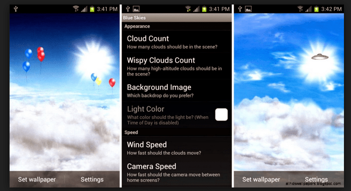 Blue Skies Free Download Best Free Live Wallpapers for Android