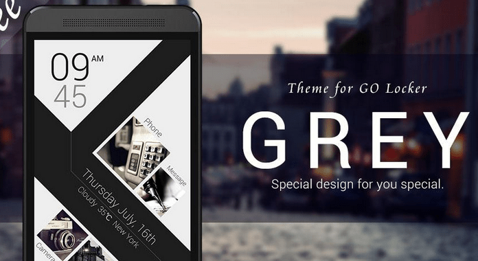 GREY Best Free Go Locker Themes for Android