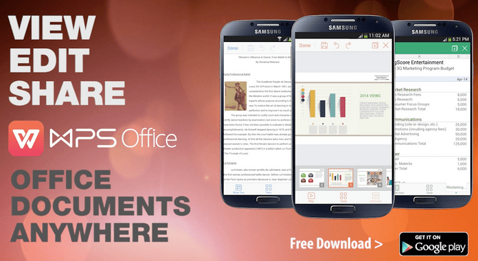WPS Office + PDF Must Have Android Apps free