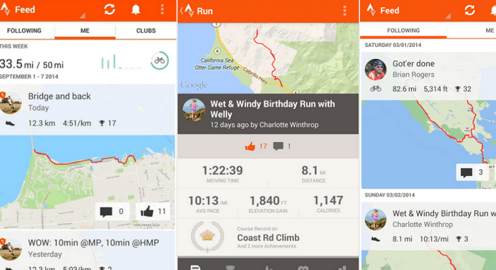 Best GPS Apps for Android trava Running and Cycling GPS
