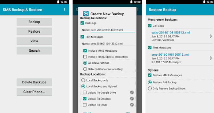 10 Best Android Backup Apps SMS Backup & Restore