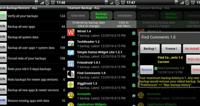 Free Download Best Android Backup Apps Titanium Backup root