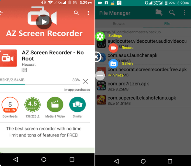 How to Record Screen Video on Android phone Lollipop no Root Require