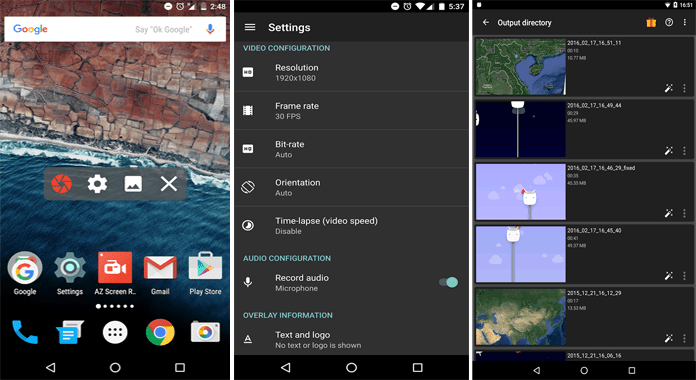Review AZ Screen Recorder for Android Lollipop No Root