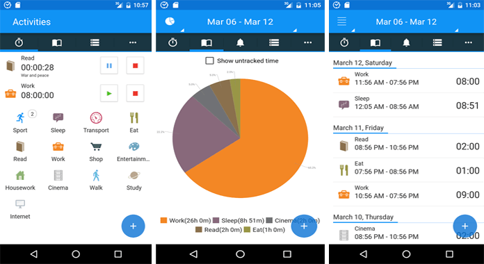 Best Time Tracking Apps for Android aTime logger