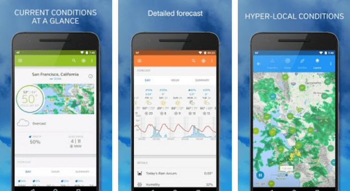Weather Underground Best Weather Apps for Android