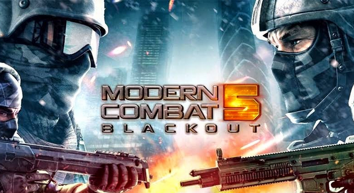 Best Free Action Games for Android modern combat 5 blackout